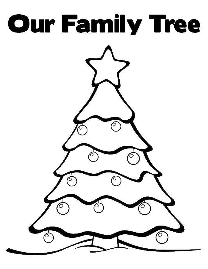 Раскраска Наше семейное древо Скачать Семья, родители, дети.  Распечатать ,Семейное дерево,
