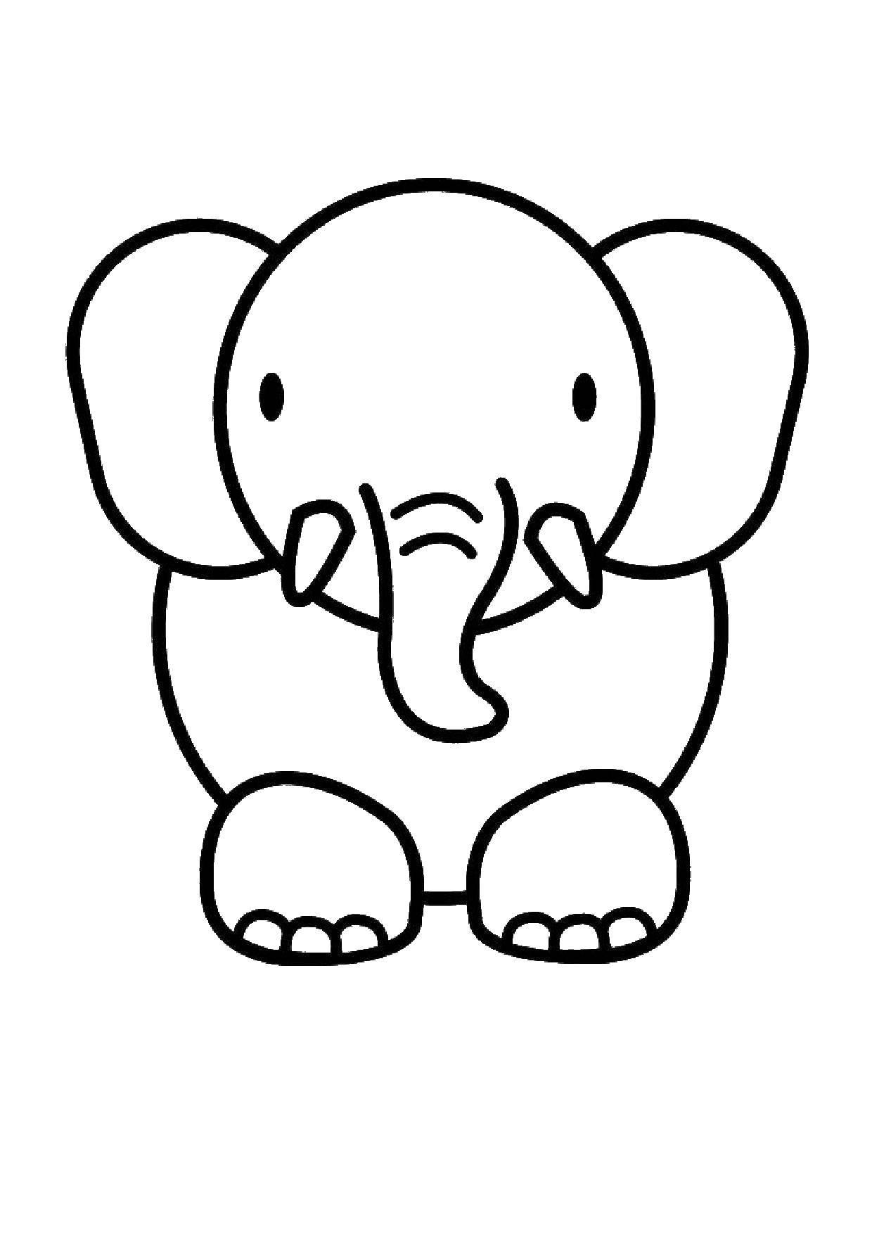 Раскраска Слон Скачать слон.  Распечатать ,Животные,