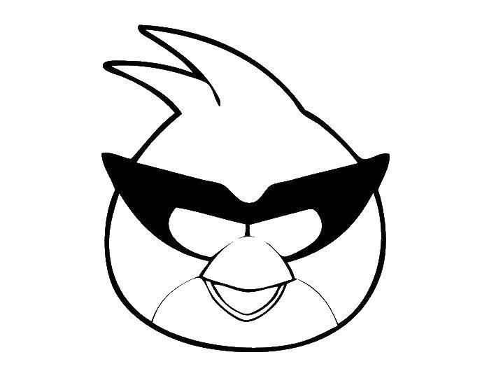 Раскраска angry birds Скачать поросенок.  Распечатать ,Сказки,