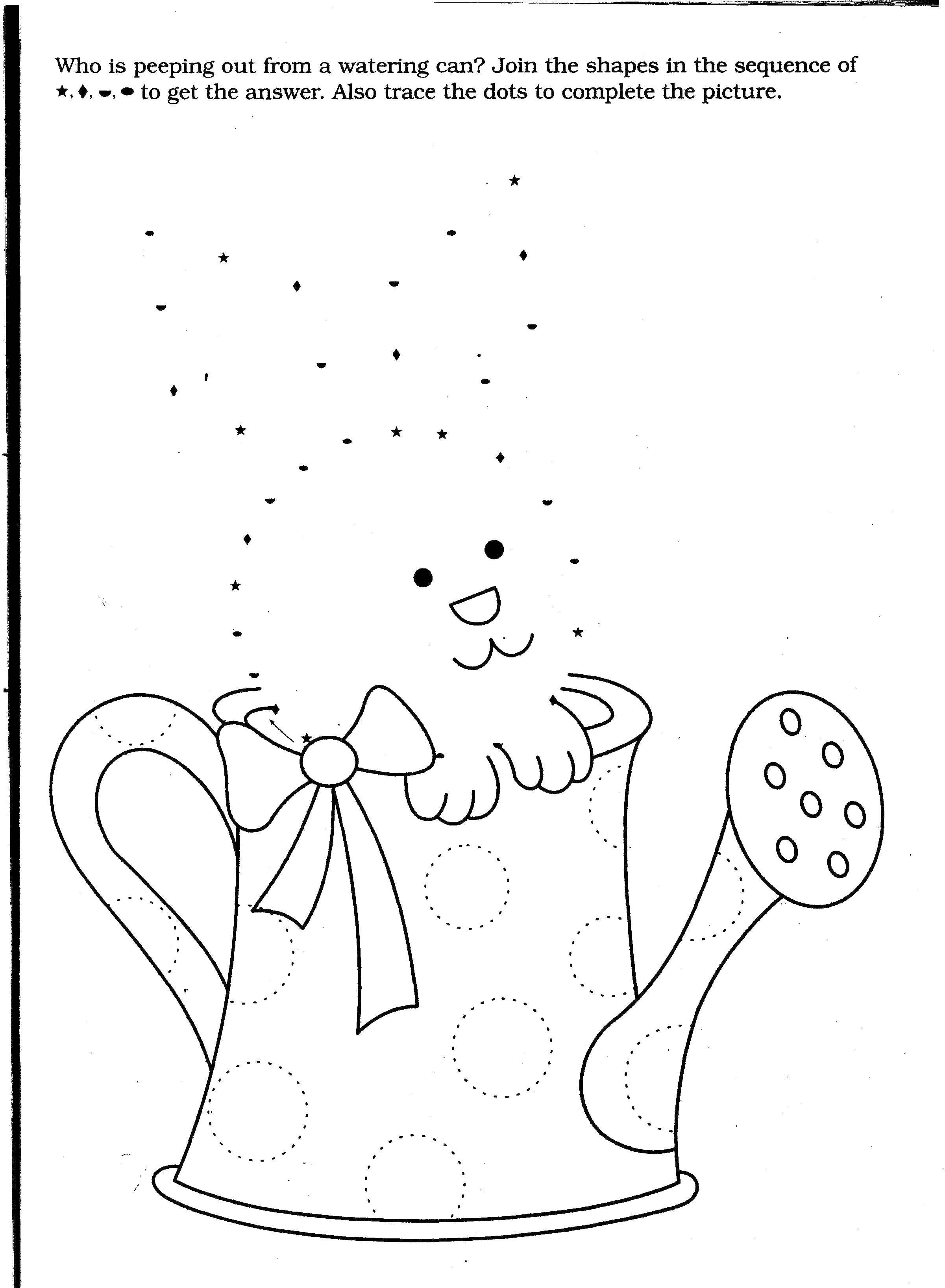 Раскраска Кролик в лейке Скачать ,дорисуй, точки, кролик,.  Распечатать