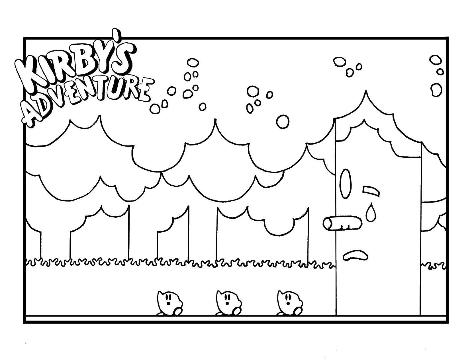 Раскраска Приключения кирби Скачать Звездочка Кирби.  Распечатать ,Кирби,