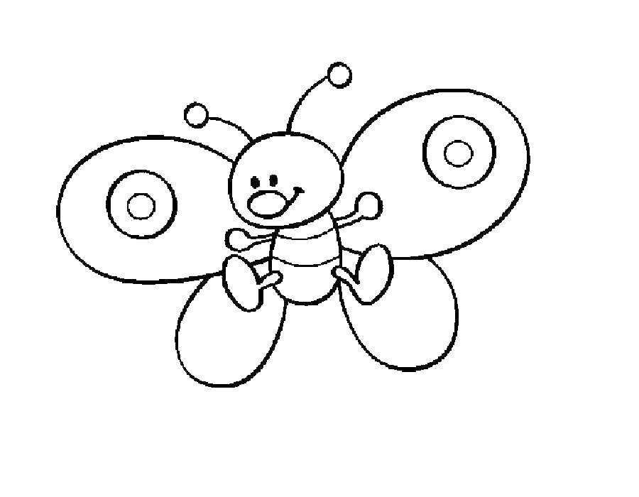 Раскраска бабочки Скачать кирби, мультики.  Распечатать ,Кирби,