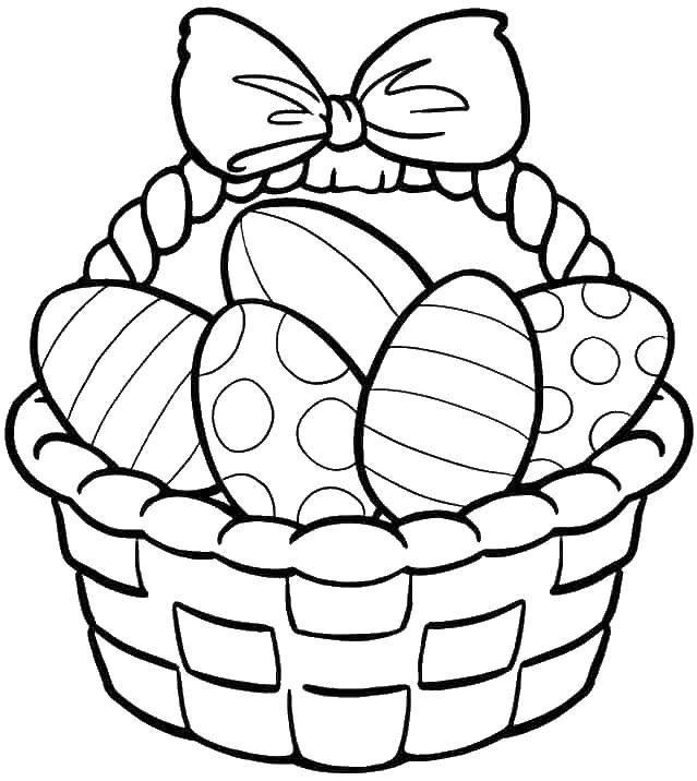 Раскраска пасха Скачать ,Пасха, яйца, узоры,.  Распечатать