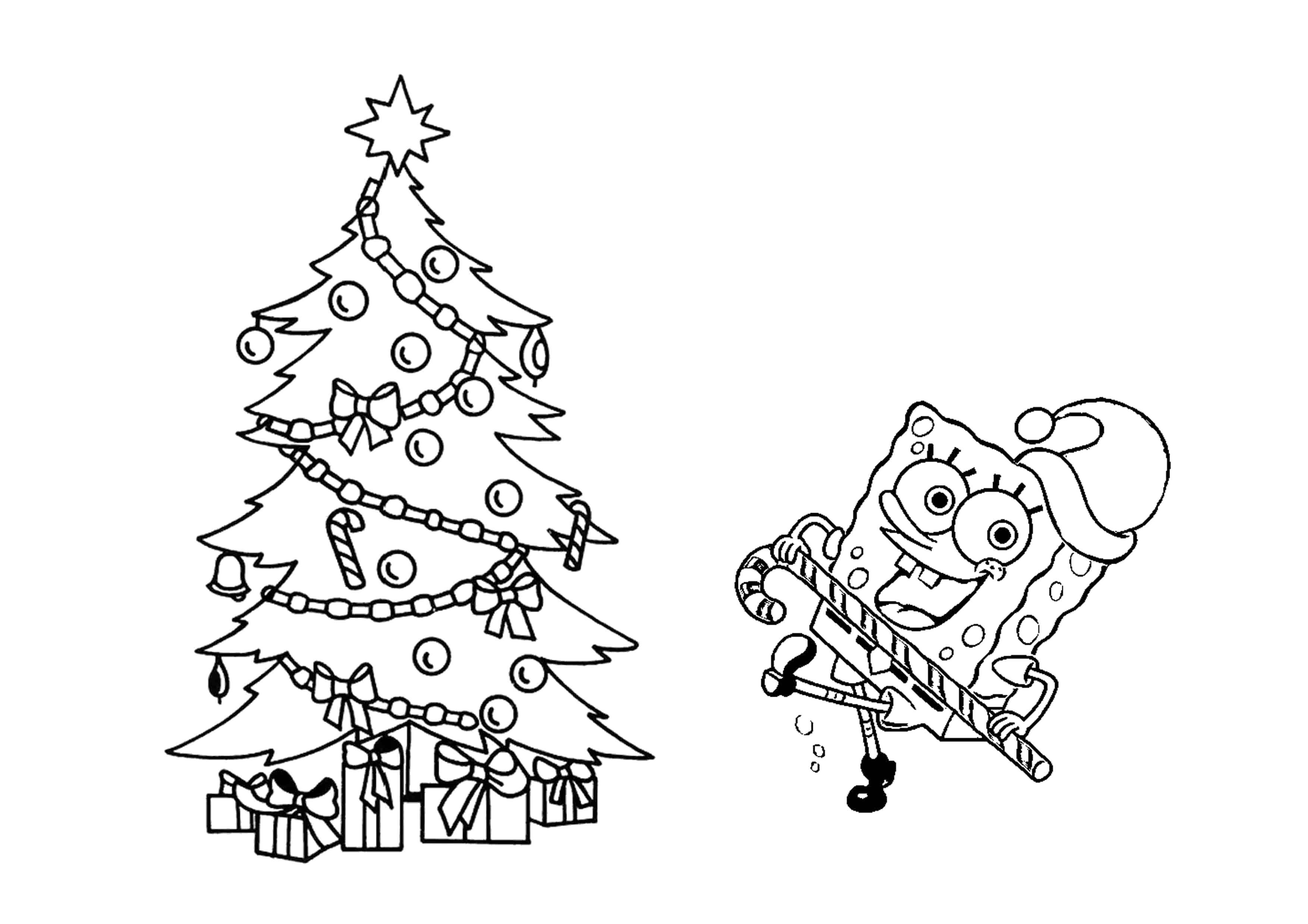 Раскраска  Скачать ,Открытка, Новый Год, Рождество,.  Распечатать
