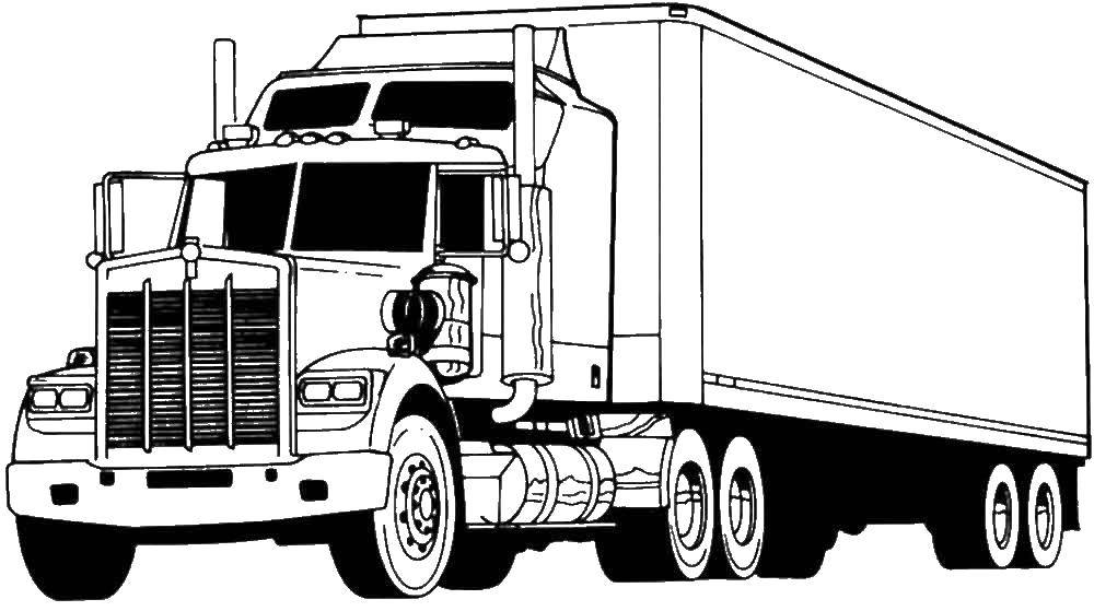 раскраски камаз раскраска грузовой камаз машины