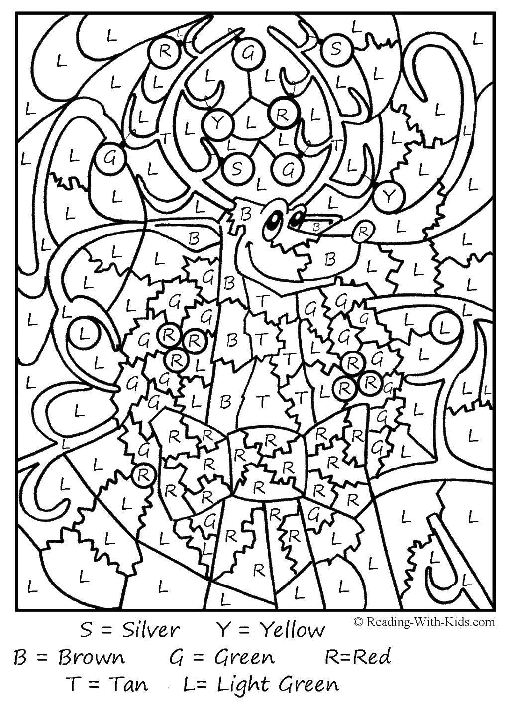 Раскраски олень, Страница:1.