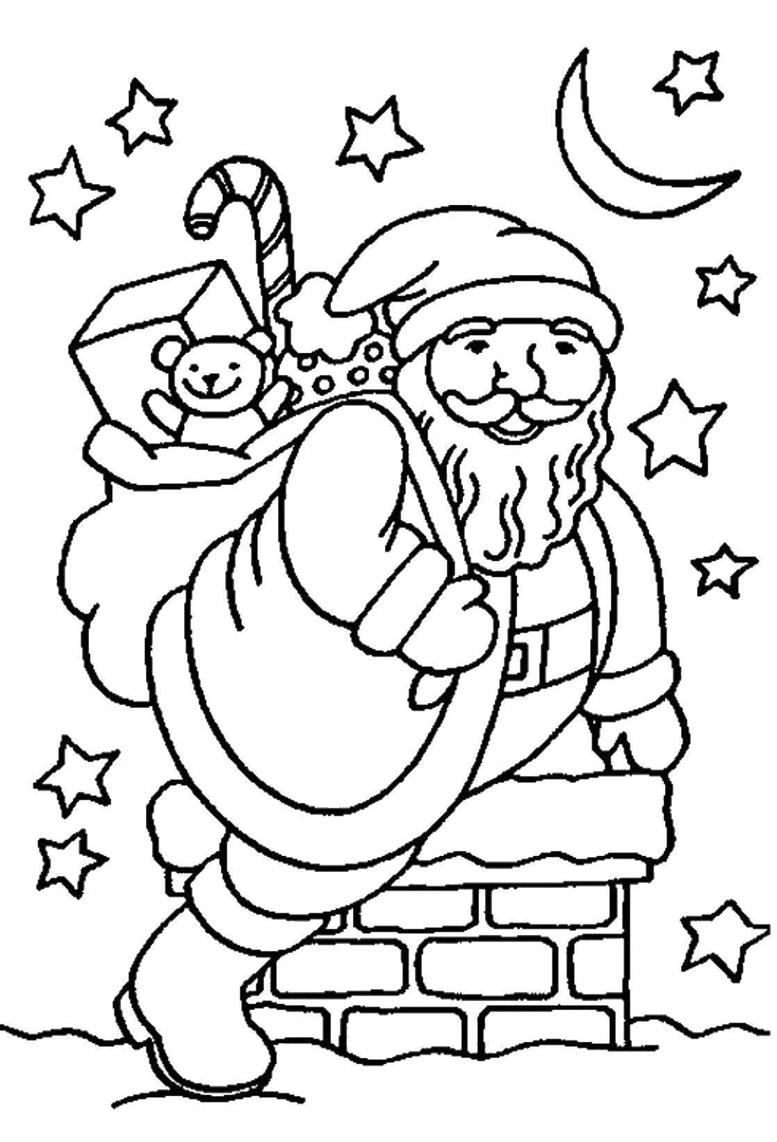 Раскраска Рождество Скачать Космос, ракета, звезды.  Распечатать ,космос,