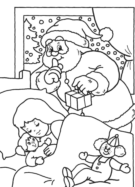 Раскраска Рождество Скачать ,Животные, мышка,.  Распечатать