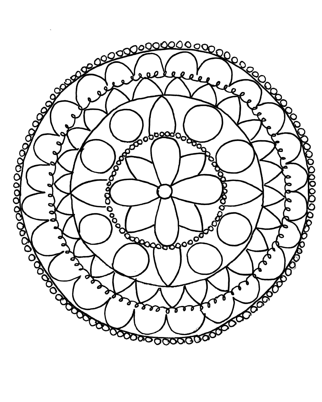 раскраски раскраска тарелка с узором раскраски