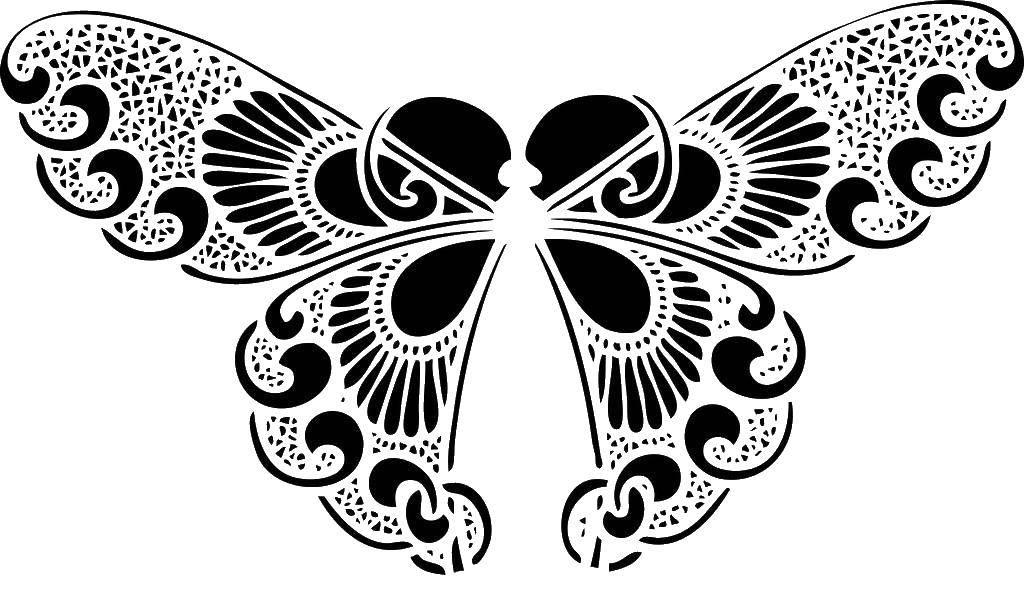Раскраска узоры Скачать ,единорог, крылья, корона,.  Распечатать