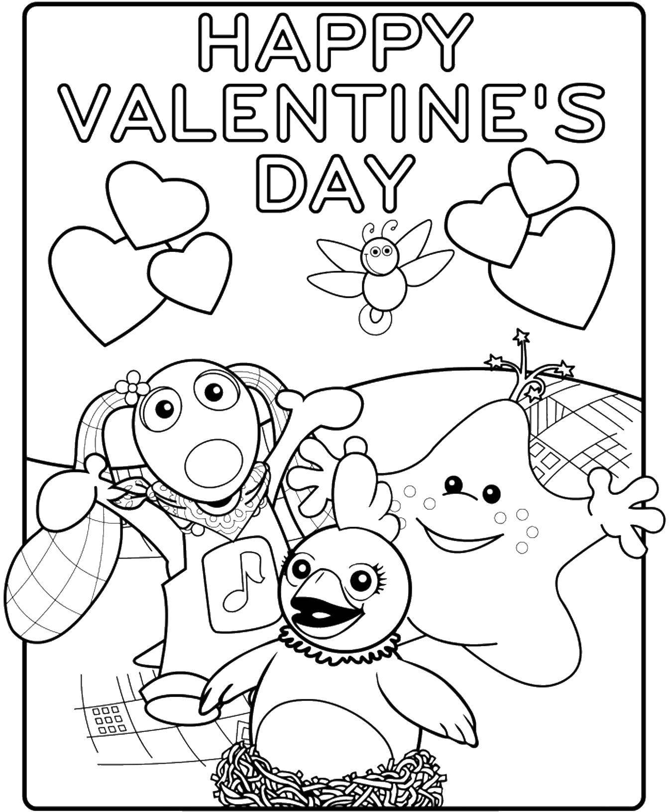 Раскраска День святого валентина Скачать Пауэр Рейнджерс.  Распечатать ,Рейнджеры,