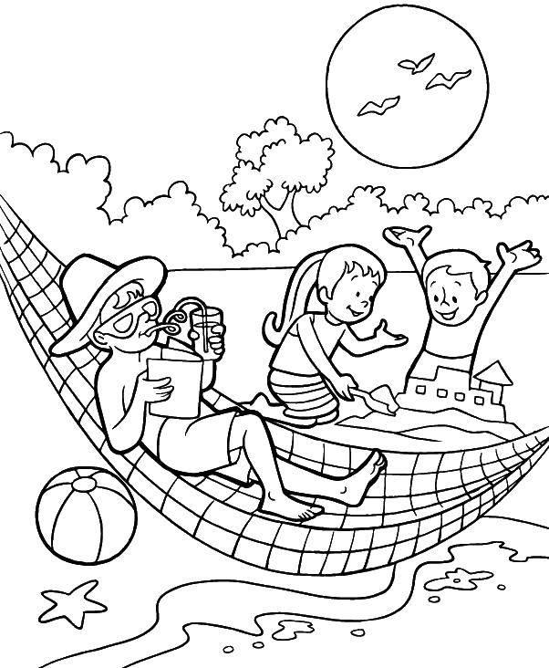 Раскраска Летние развлечения Скачать принцессы, мини, пони.  Распечатать ,мой маленький пони,