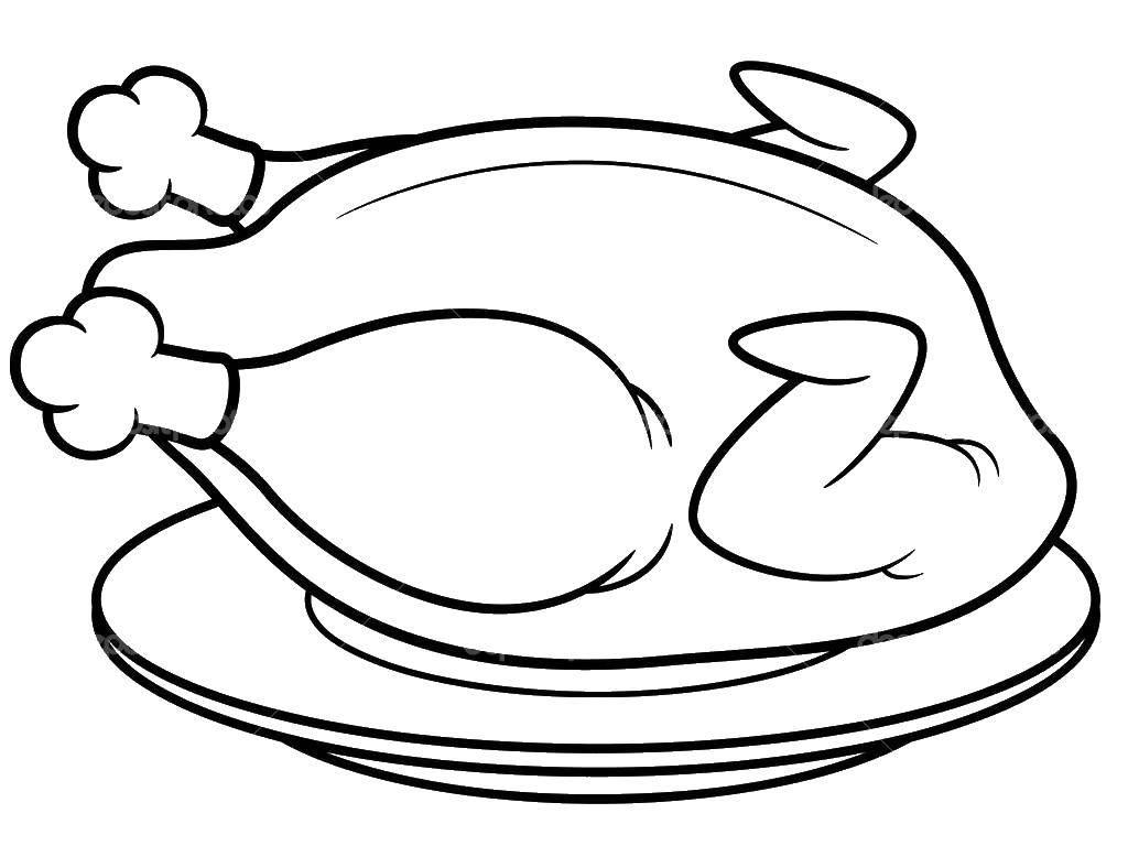 Раскраска Курица Скачать мясо, курица.  Распечатать ,Мясо,