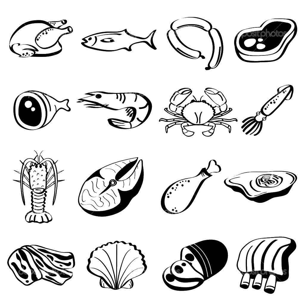 Мясо рыба яйцо стоковые фотографии и лицензионные изображения.