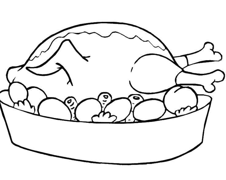 Online Coloring Pages Coloring Page Chicken Meat Coloring Pages For
