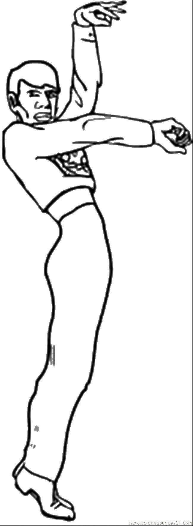Раскраска Танцор Скачать Танец.  Распечатать ,Танцы,