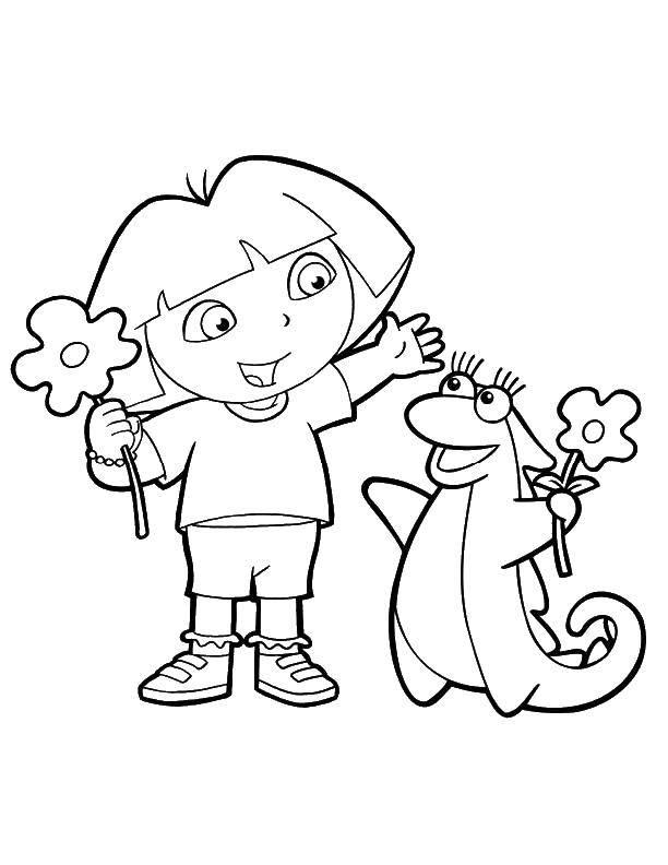 Раскраска Даша и лиза Скачать мультфильмы, Даша путешественница, Лиза.  Распечатать ,мультфильмы,