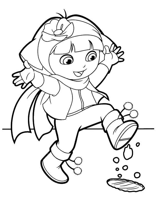 Раскраска Персонаж из мультфильма Скачать ,предметы, лишнее,.  Распечатать