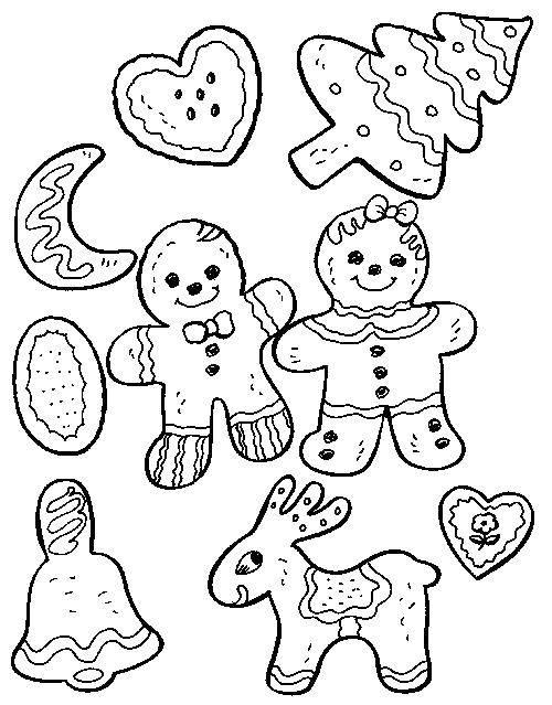 Раскраска Пряники Скачать еда, пряники.  Распечатать ,Еда,