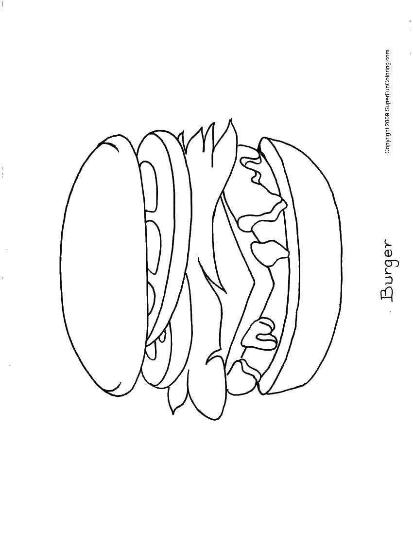 Раскраска Гамбургер Скачать плащ, мутант.  Распечатать ,Люди икс,