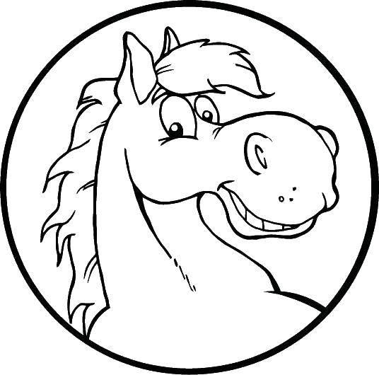 Раскраска лошади Скачать поросенок.  Распечатать ,домашние животные,
