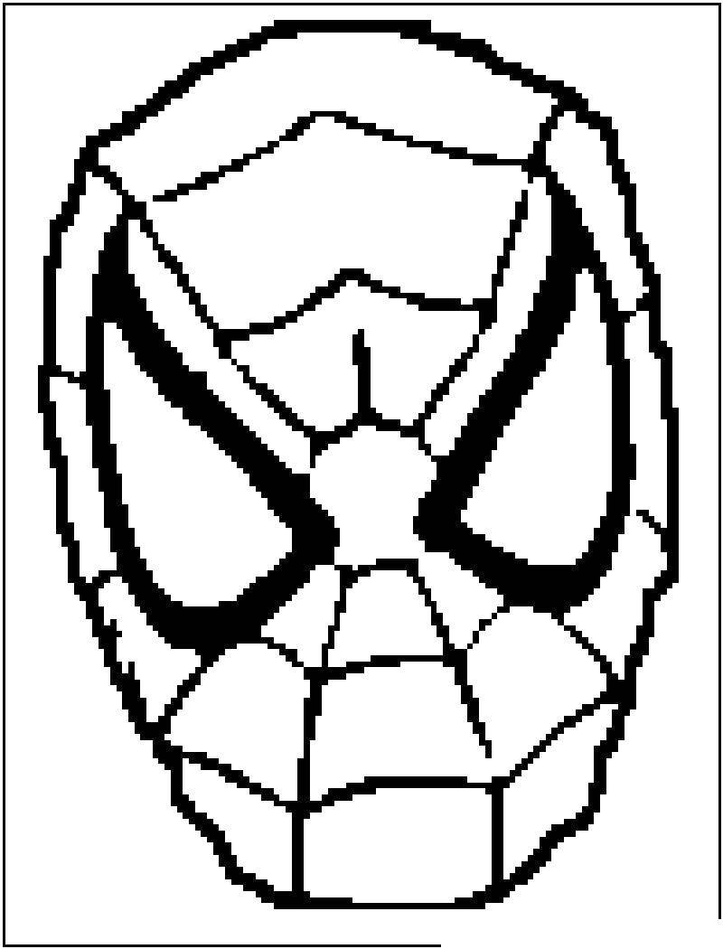 Раскраска Маска человека паука. Скачать маска, человек паук.  Распечатать ,маска,