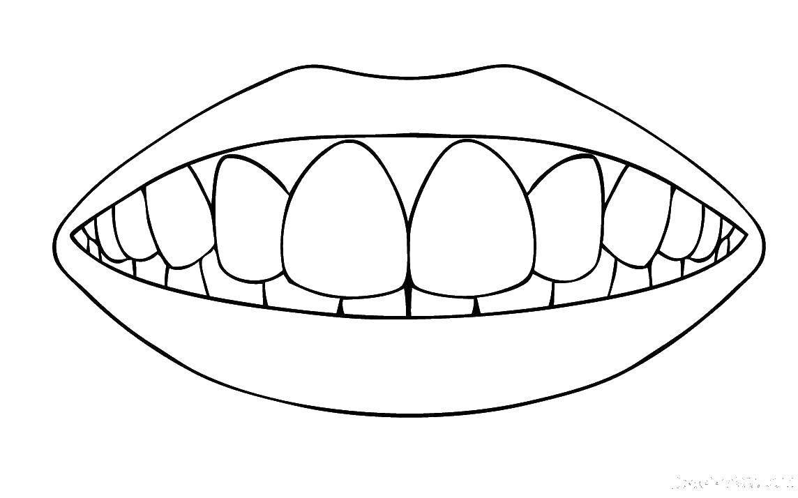Raskraski Zubami Stranica 1
