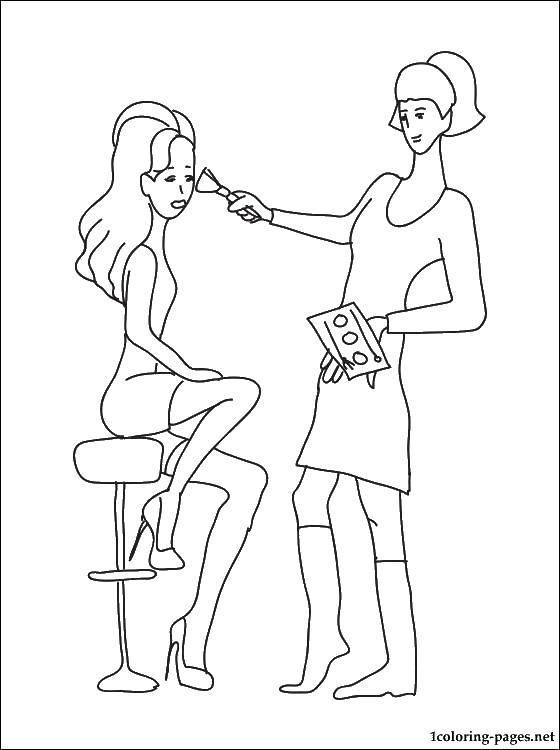 раскраски макияж раскраска салон красоты макияж