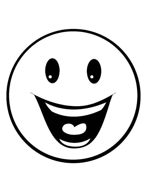 Раскраска праздник Скачать ,смайлик, улыбка,.  Распечатать