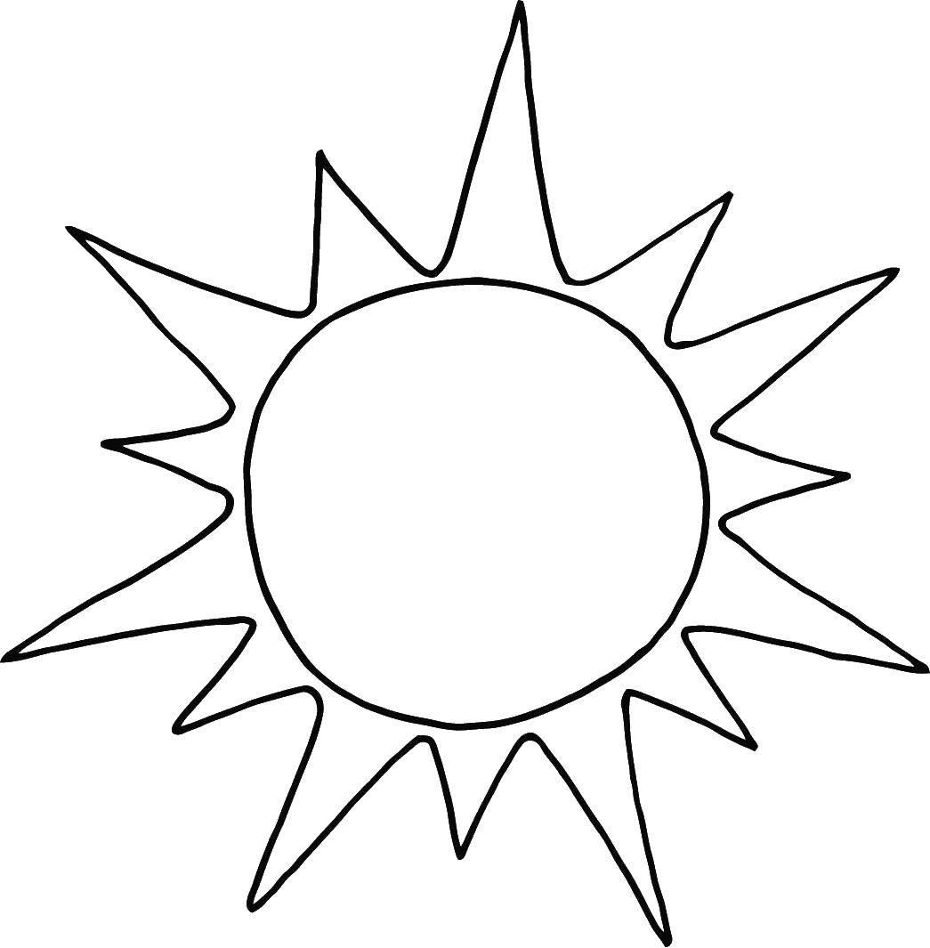 Раскраска Солнце Скачать ,Солнышко, лучи, радость,.  Распечатать