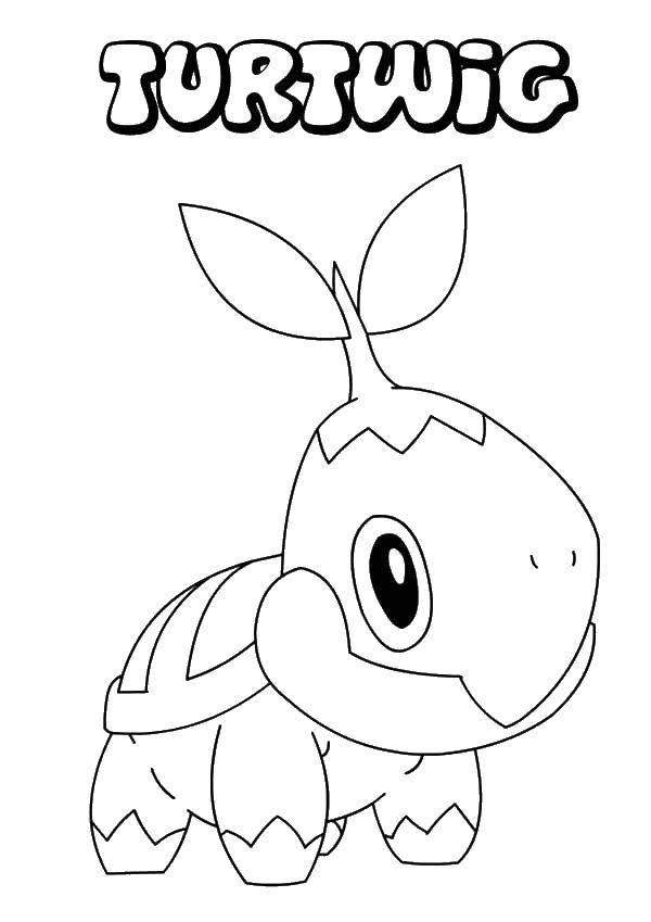 Раскраска Покемоны тортвиг Скачать покемоны, тортвиг.  Распечатать ,Покемоны,