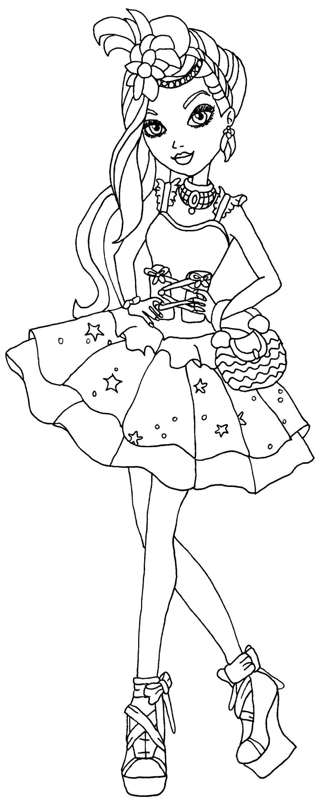 Раскраска Герцогиня лебедь дачесс свон дочь принцессы одетты Скачать эвер афтер хай, Герцогиня Лебедь, Дачесс Свон.  Распечатать ,эвер афтер хай,