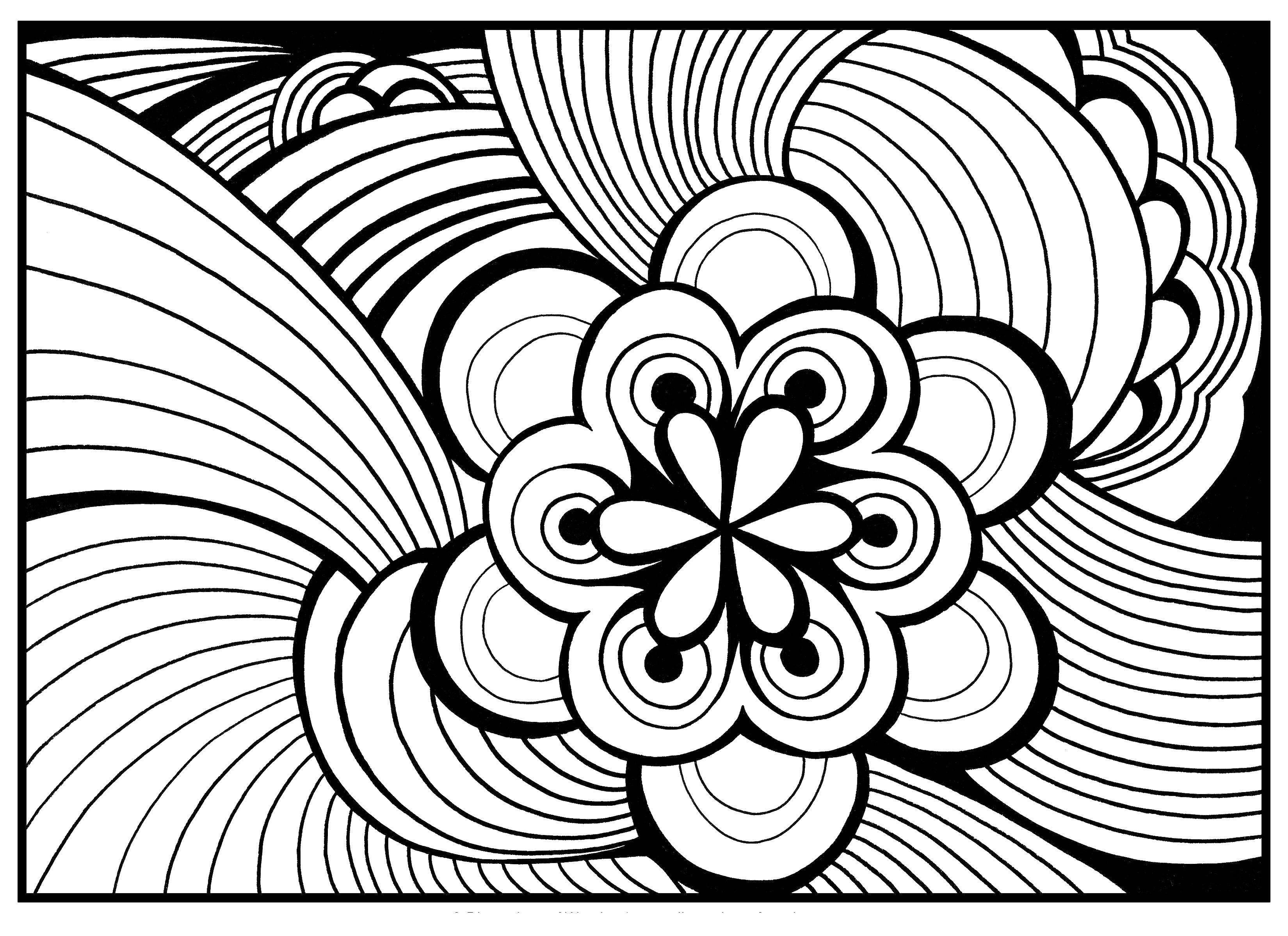 Раскраска узор Скачать ,узоры, цветы,.  Распечатать