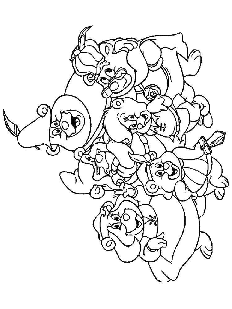 Раскраска Диснеевские мультфильмы Скачать Белоснежка.  Распечатать ,Сказки,