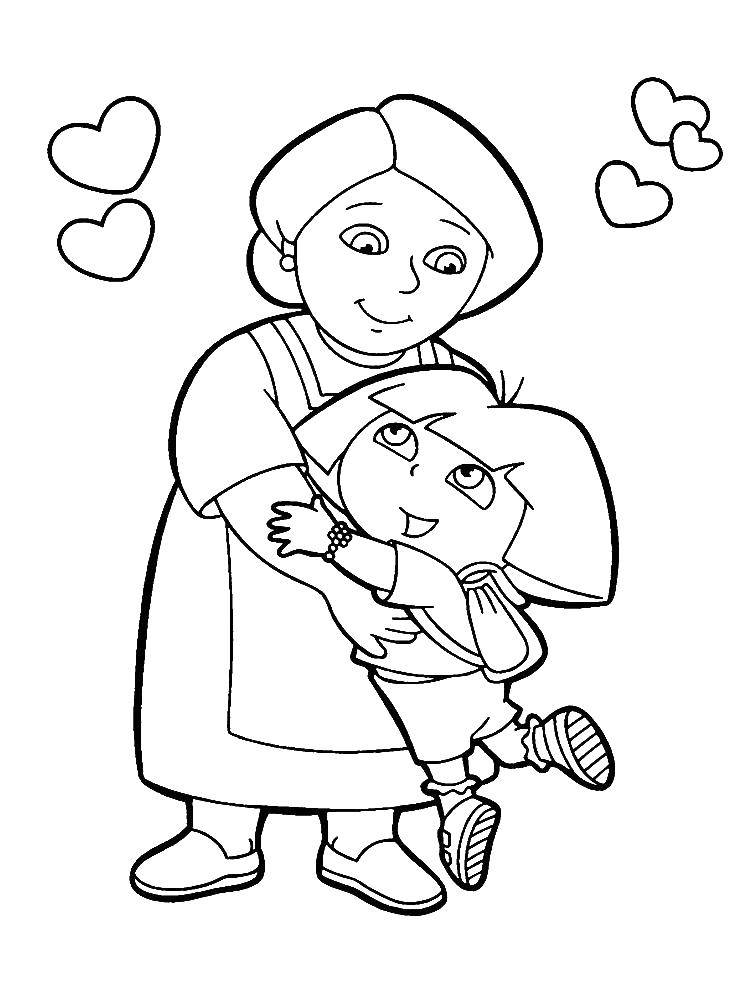 Раскраска Персонаж из мультфильма Скачать Сказки.  Распечатать ,Сказки,