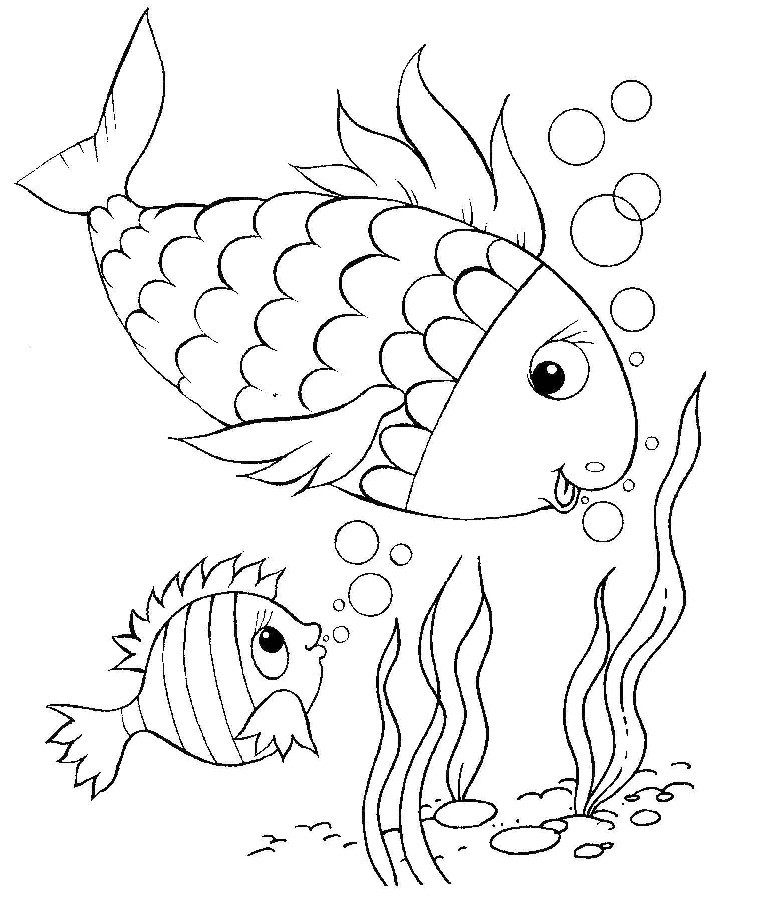 Раскраска рыбы Скачать пустыня, вулканы.  Распечатать ,Вулкан,