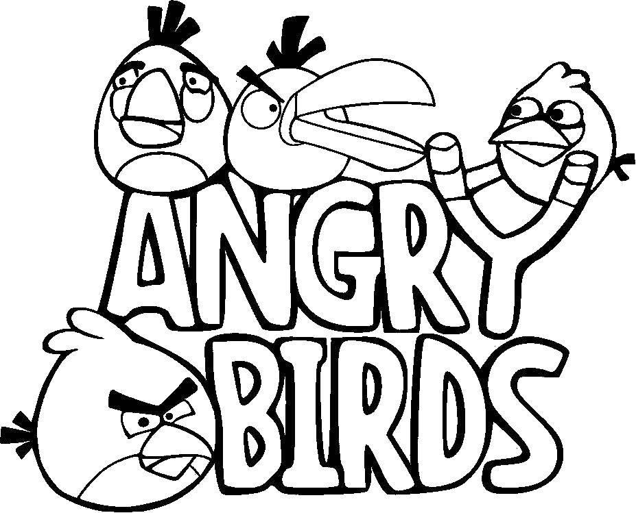 Раскраска angry birds Скачать единорог, пони.  Распечатать ,Пони,