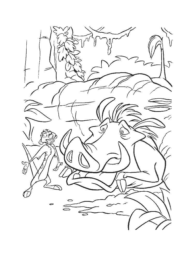 Раскраска Диснеевские мультфильмы Скачать .  Распечатать