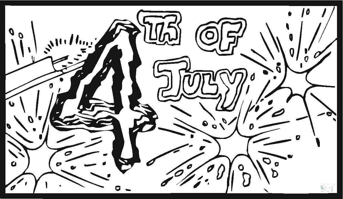 Раскраска фейерверк Скачать ,Поздравление, День Независимости,.  Распечатать