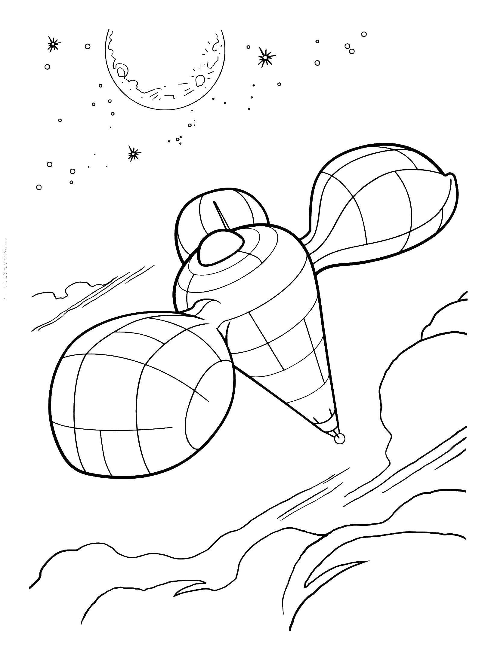 Раскраска Космический корабль Скачать космические корабли, .  Распечатать ,Монстры против Пришельцев,