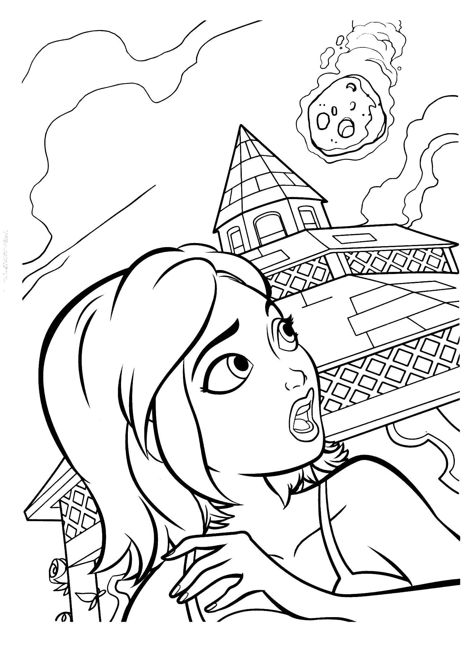 Раскраска Сюзан Скачать Монстры, Пришельцы, Сюзан.  Распечатать ,Монстры против Пришельцев,
