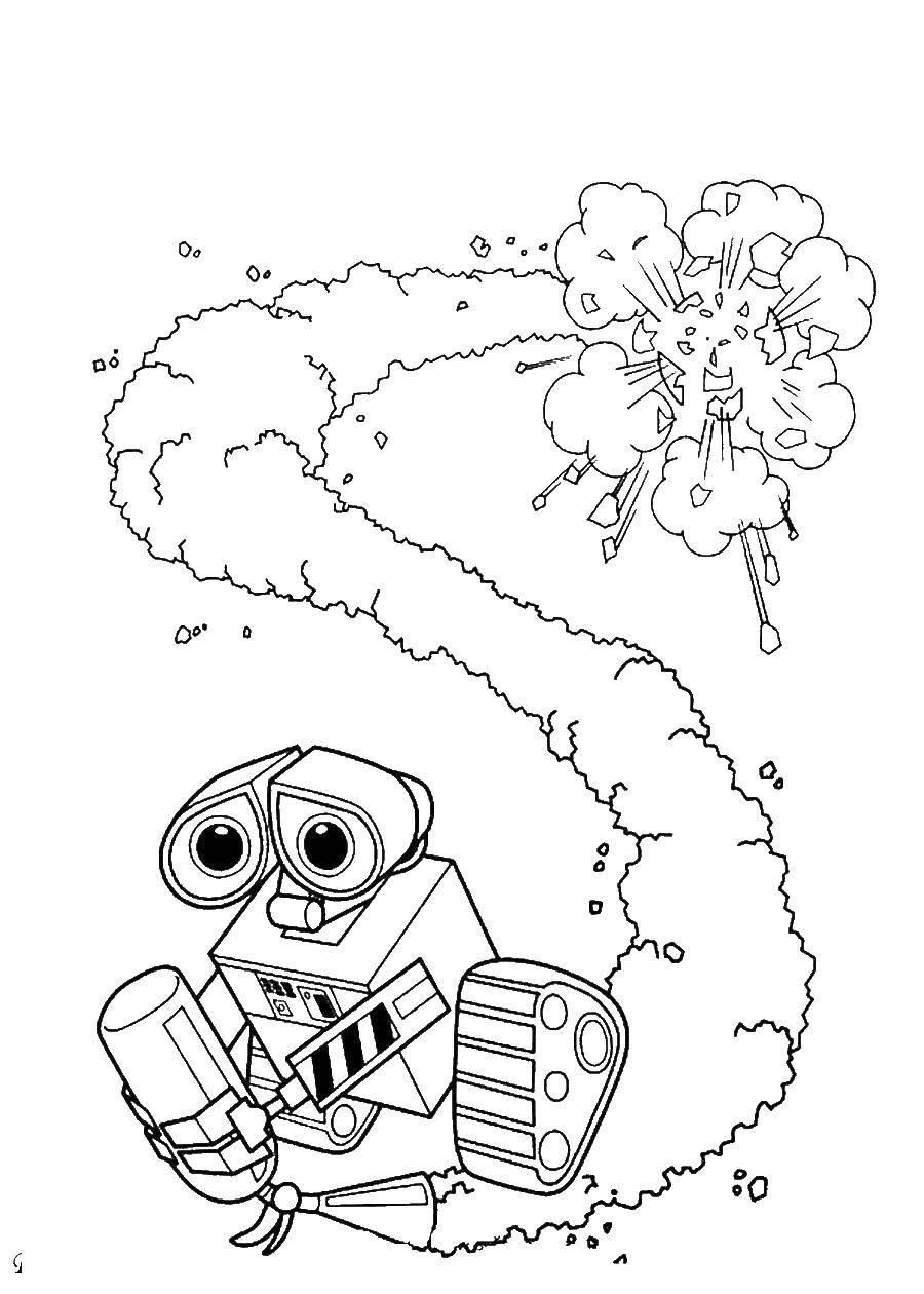 раскраски раскраска валли с огнетушителем валл и раскраски