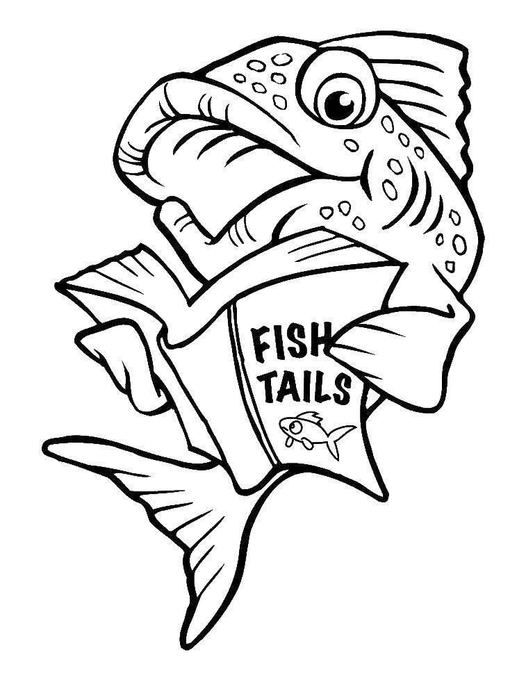 Раскраска рыбы Скачать Персонаж из мультфильма, Бен Тен.  Распечатать ,Персонаж из мультфильма,