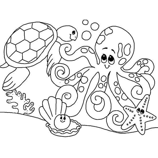 Раскраска морское Скачать Персонаж из мультфильма, Спанч Боб, Губка Боб, Планктон.  Распечатать ,Персонаж из мультфильма,