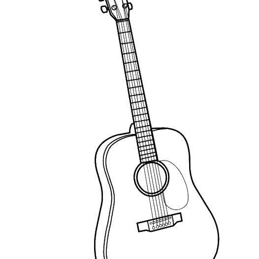 Раскраска гитара Скачать Персонаж из мультфильма, Бен Тен.  Распечатать ,бен тен,