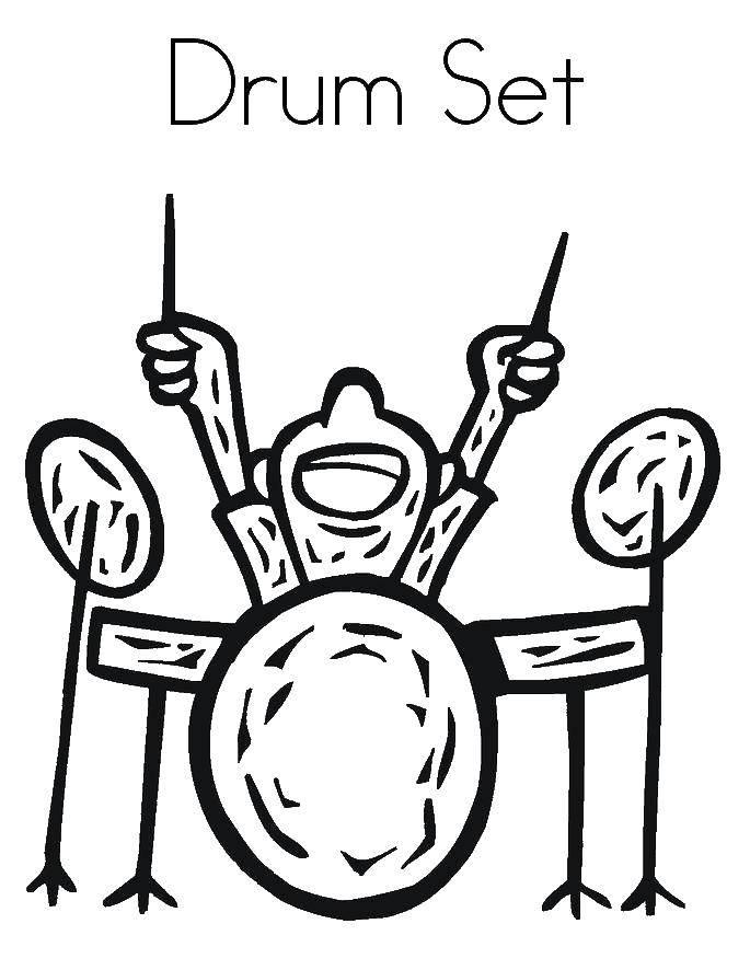 Раскраска Парень играет на барабанах Скачать барабан, мальчик.  Распечатать ,Барабан,