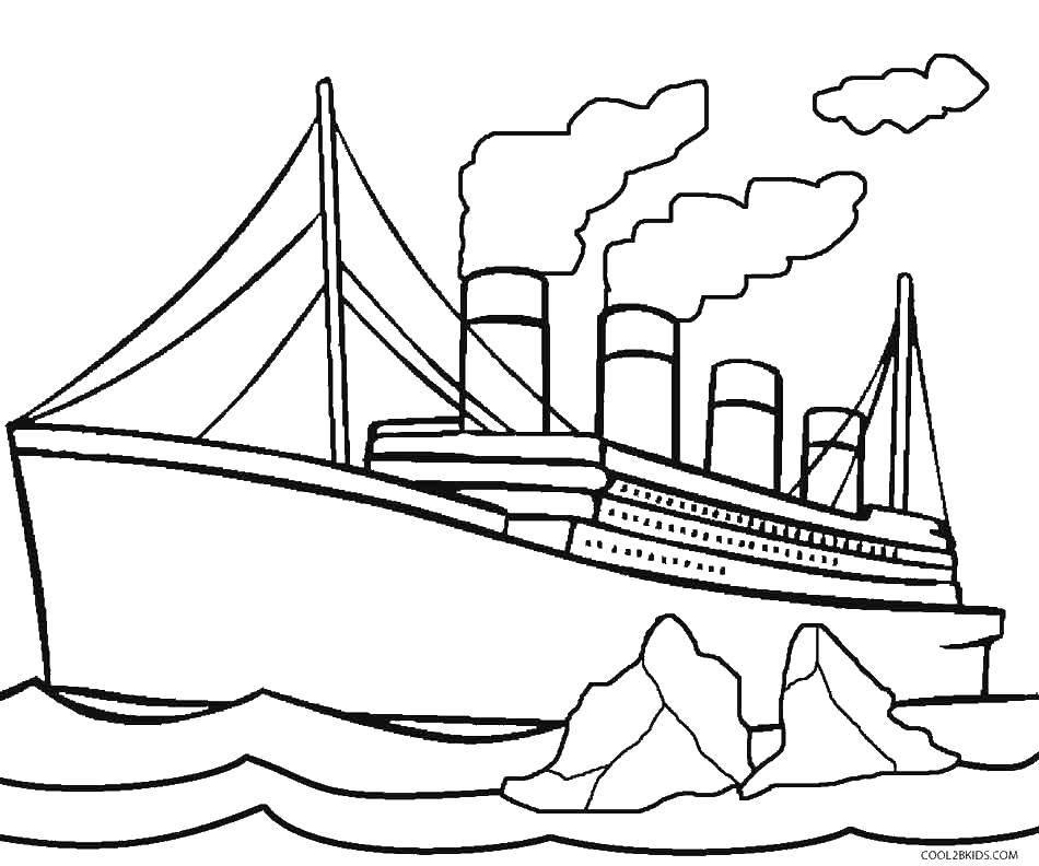 Раскраска корабль Скачать ,Корабль, ледокол,.  Распечатать