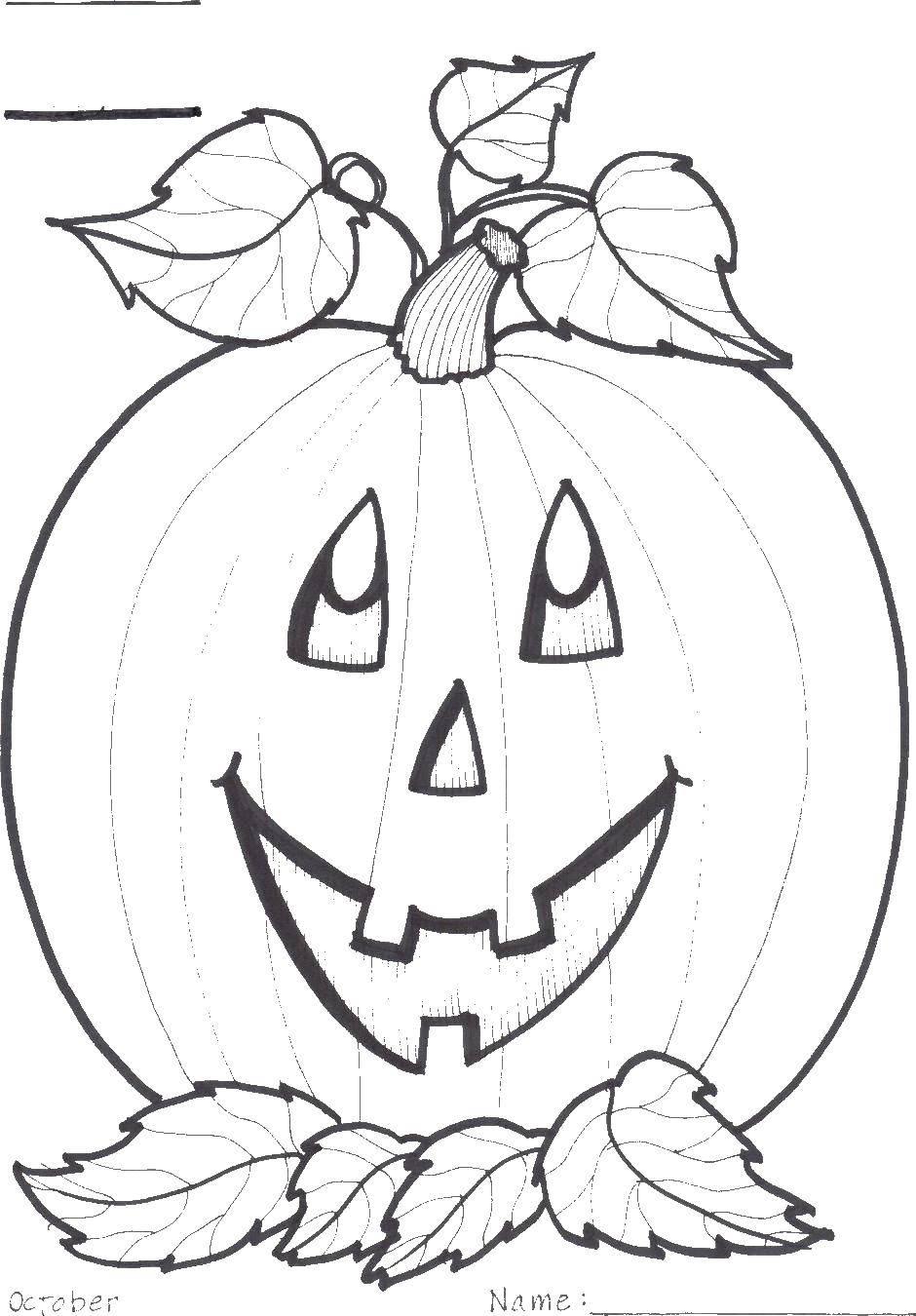 Раскраска Тыква на хэллуин Скачать тыква, хэллоуин.  Распечатать ,Хэллоуин,