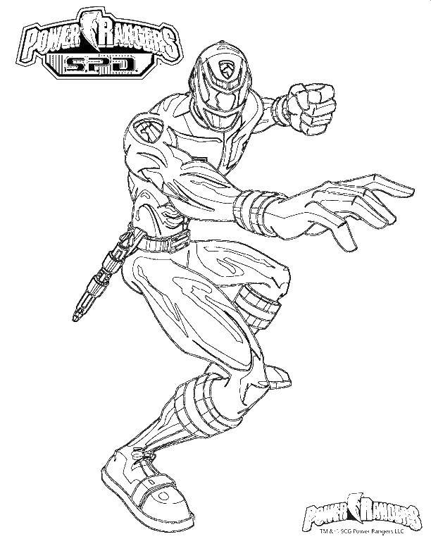 Раскраска Рейнджеры Скачать комиксы, мультфильмы, супергерои.  Распечатать ,супергерои,