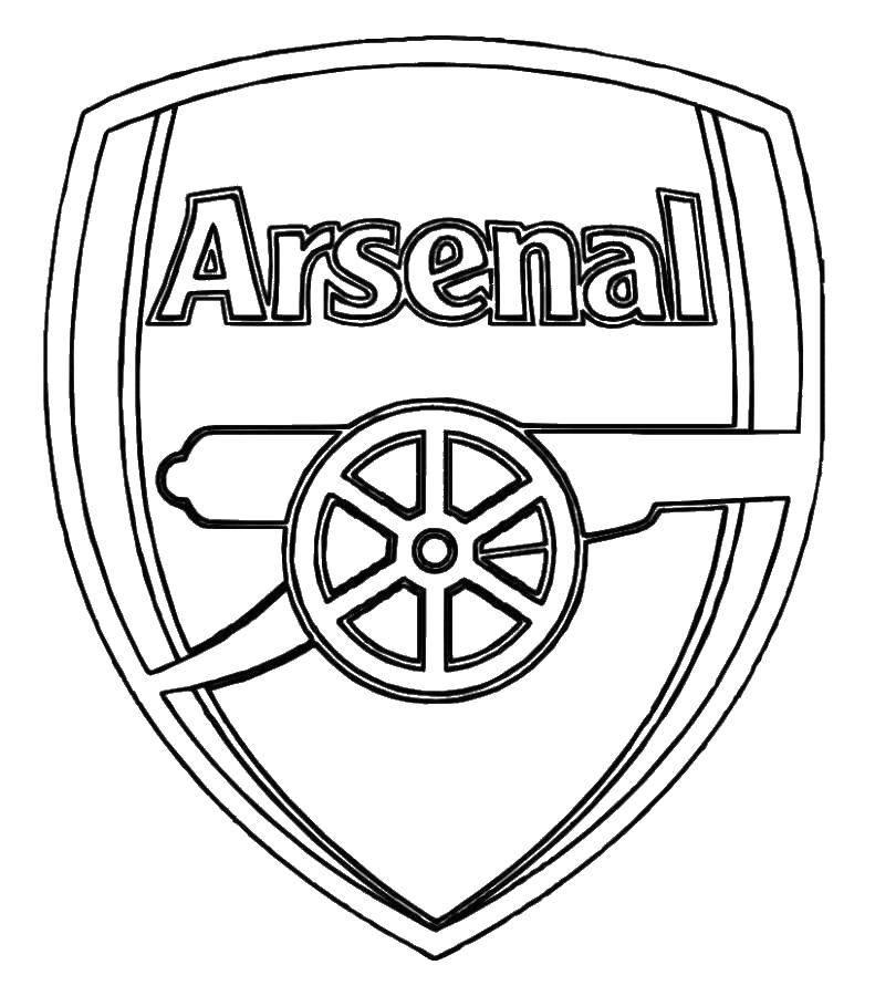 Раскраска Футбольный клуб арсенал Скачать футбол, Арсенал, клуб.  Распечатать ,Футбол,